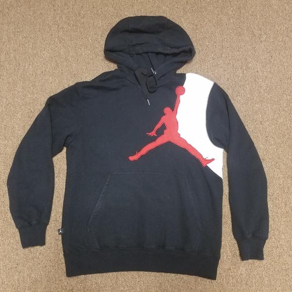 5059e93ab79716 Jordan Other - Nike Air Jordan Jumpman Black Hoodie Red Logo
